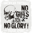 Football Guts vector image vector image