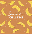 fruit design with summer chill time typography vector image vector image