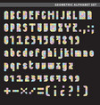 geometric alphabet set vector image vector image
