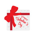 gift box for valentine day vector image