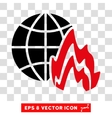 Global Fire Eps Icon vector image