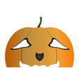 halloween pumpkin mask vector image
