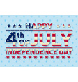 happy independence day background template vector image vector image