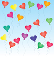 heart-shaped balloons vector image