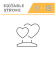 heart statue line icon vector image vector image