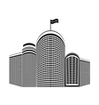 high rise homes vector image