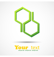 Honeycomb design element background vector image