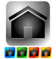 house icons - home apartment rent home homepage vector image vector image