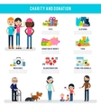 Human Volunteers Flat Infographic Template vector image
