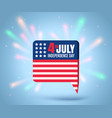 independence day at 4 th july vector image vector image
