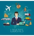 logistics manager agent concept Delivery vector image vector image