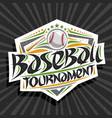 logo for baseball tournament vector image vector image