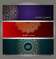 luxury banners with mandala designs vector image vector image