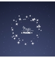 Magic frame for your text from shiny stars vector image
