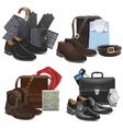 Male Fashion Accessories vector image