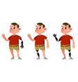 man with prosthetic arm and leg vector image vector image