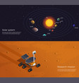 mars colonization isometric banners vector image