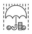 Money rain and umbrella sign icon vector image vector image
