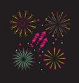 night firework decoration tocelebration event vector image vector image