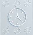 paper clock set of mechanical clock vector image