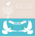 peace day banners template with doves and vector image vector image