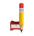 pencil sharpener symbol vector image vector image