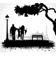 People in the park vector | Price: 1 Credit (USD $1)