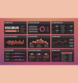 presentation templates infographic vector image vector image