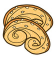 pretzel bakery icon hand drawn style vector image vector image