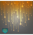 rain comets isolated on transparent background vector image vector image