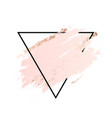 rose and pink background stroke triangle frame