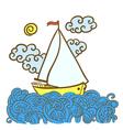 sailfish on the waves vector image