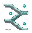 scheme escalators moving staircases vector image vector image