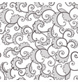 seamless ornamental pattern with curls on white vector image