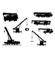 Set Crane Silhouette on a white background vector image vector image