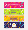 set horizontal colorful abstract banners vector image vector image