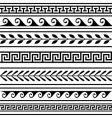 set of geometric borders vector image vector image