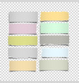 set of notes paper in pastel colors on vector image vector image