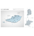 set south korea country isometric 3d map south vector image