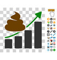 shit growing chart icon with bonus vector image vector image