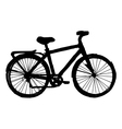 silhouette of bicycle vector image vector image
