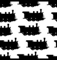 silhouette steam locomotive seamless background vector image vector image