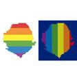 spectrum pixel dotted sierra leone map vector image