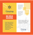 steering company brochure title page design vector image
