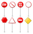 stop signs and traffic sign collection vector image