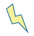thunder icon image vector image vector image