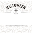 White Paper Sheet on Light Halloween Background vector image