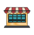 window shop sun umbrella vector image vector image