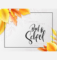 with design template for back vector image vector image