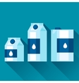 with packaging of milk in flat design vector image vector image